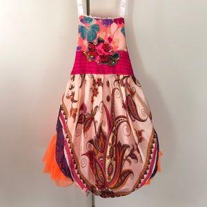 2 Handmade Ruby Pearl Whimsical Girls Dress NEW